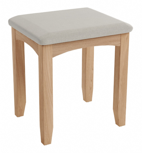 Greenwich Light Oak Dressing Table Stool